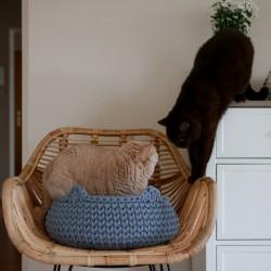 Chunky Cat Bed - STALOWY