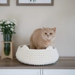 Chunky Cat Bed - KREMOWY
