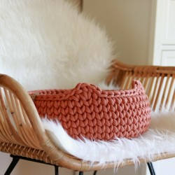 Chunky Cat Bed - TERRACOTTA