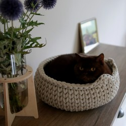 Chunky Cat Bed - BEŻOWY