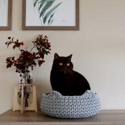Chunky Cat Bed - SZARY