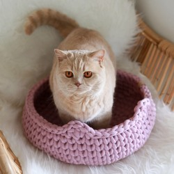 Chunky Cat Bed - BRUDNY RÓŻ